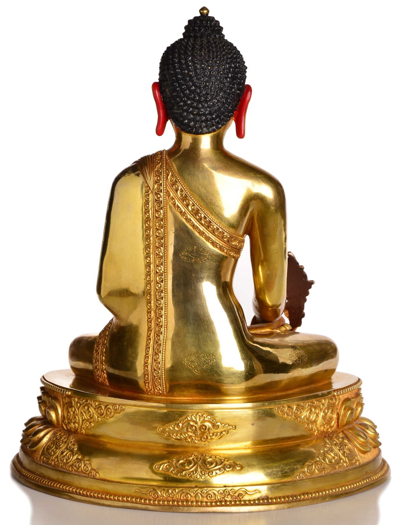 medizin buddha replika statue vollfeuervergoldet 20 cm nepal kaufen. Black Bedroom Furniture Sets. Home Design Ideas