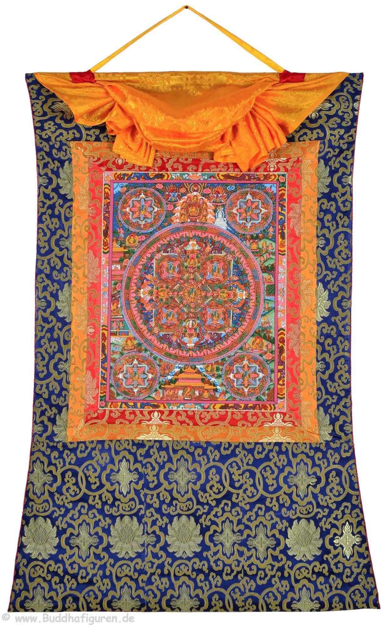 Thangka Mandala Akshobhya 77 x 110 cm