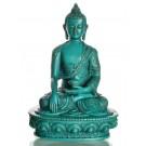 Akshobhya / Shakyamuni 19 cm Buddha Statue Resin türkis