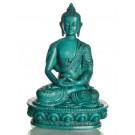 Amitabha Buddha Statue Resin 19 cm türkis