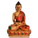 Amitabha Buddha Statue Resin 13,5 cm bemalt