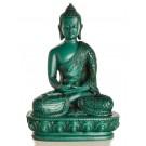 Amitabha Buddha Statue Resin 13,5 cm türkis