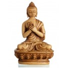 Amoghasiddhi Buddha Resin 11,5 cm beige