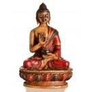 Amoghasiddhi Buddha Statue 11,5 cm Resin bemalt