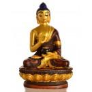 Amoghasiddhi Buddha Statue 11,5 cm Resin golden