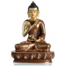 Amoghasiddhi 14 cm teilfeuervergoldet Buddha Statue