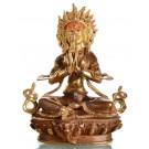 Angry Tara 21 cm teilfeuervergoldet Buddha Statue