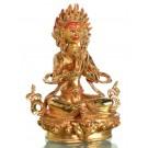 Angry Tara 21 cm feuervergoldet Buddha Statue