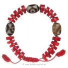 Armband rote Jaspiz Steine und dZi Stones 2