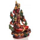 Grüne Tara Statue sitzende Position in der Seitenansicht