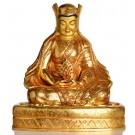Kagyü Lehrermeister Gampopa Statue sitzende Position in der Vorderansicht