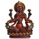 Lakshmi Statue sitzende Position in der Vorderansicht
