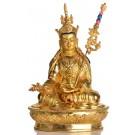 Padmasambhava Guru Rinpoche Statue sitzende Position in der Vorderansicht
