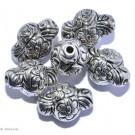 Silberfarbene Schmuckornamente G - 6 St. 13mm