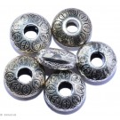 Silberfarbene Schmuckornamente D - 8 St. 14mm