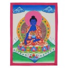 Thangka - Medizinbuddha 34 x 44 cm