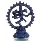 Nataraja Statue blau 11,5 cm