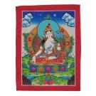 Thangka  - Weiße Tara  23 x 30,5 cm