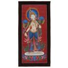 Thangka Weiße Tara 78 x 38 cm