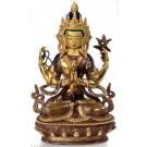 Avalokiteshvara Chenresig 22 cm feuervergoldet Buddha Statue SALE