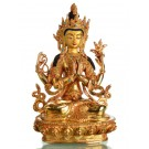 Avalokiteshvara Chenrezi 22cm voll feuervergoldet Buddha Statue SALE
