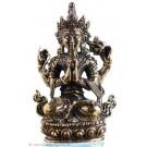 Avalokiteshvara - Chenresig  4,5 cm Buddha Statue