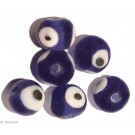 Glasperlen blue eye 10mm - 10 Perlen
