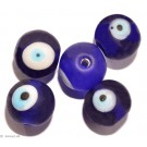 Glasperlen blue eye 11mm - 6 Perlen