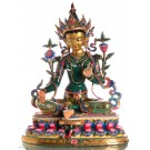 Grüne Tara  Statue 48 cm vollfeuervergoldet