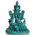 Grüne Tara Statue 25 cm Resin türkis