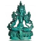 Grüne Tara Statue 15 cm Resin grün