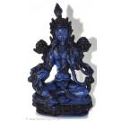 Grüne Tara Statue 20 cm Resin blau