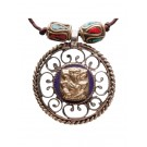 Halskette Ganesh blau
