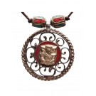 Halskette Ganesh rot