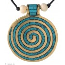 Chakra-Kette mit  Endlos-Spirale türkis