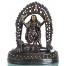 Kali - Statue aus dunklem Messing 36cm