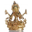 Lakshmi Figur vollfeuervergoldet