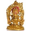 Mahakala 26 cm vollfeuervergoldet Replica Statue