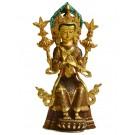 Maitreya Buddha Statue 24 cm teilfeuervergoldet