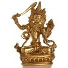 Manjushri 14 cm Buddha Statue Messing