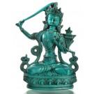 Manjushri Buddha Statue 20 cm türkis Resin