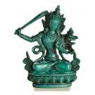 Manjushri Buddha Statue 14,5 cm türkis Resin