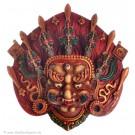 Mahakala Maske 14 cm Resin bemalt