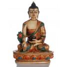 Medizinbuddha Resin bemalt  20 cm