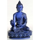 Medizin buddha statue blau