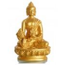 Medizinbuddha 11,5 cm Buddha Statue Resin golden