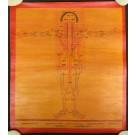 Tibetischer Medizin Yoga Thangka smoked Nr. 11  36  x 41cm