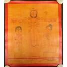 Tibetischer Medizin Yoga Thangka smoked Nr. 13 ca. 39 x 47cm