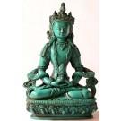 Amitayus - Aparimita 20 cm Buddha Statue Resin türkis