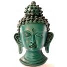 Buddha Maske 15 cm Resin türkis
